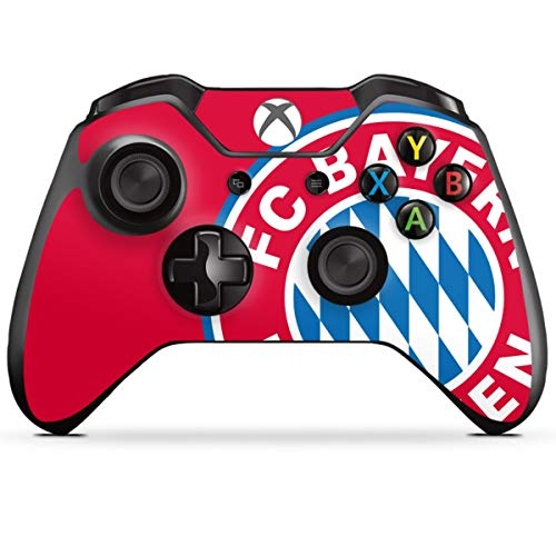 DeinDesign Skin kompatibel mit Microsoft Xbox One Controller Folie Sticker FC Bayern München Offizielles Lizenzprodukt FCB