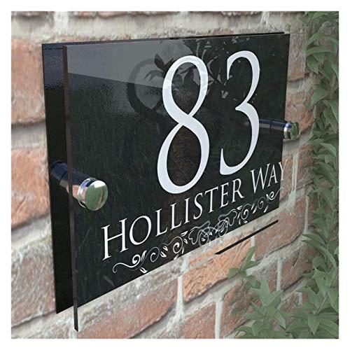YGLONG NúMeros Casa 200x140mm Personalizada Número números de Las Casas Muestra de...