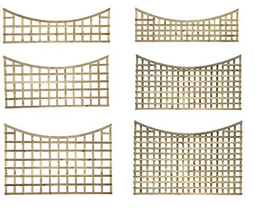 PGS Premier Concave Trellis Garden Lattice Fence Topper Various Sizes 2&3&4ft Treated (Standard Hole Size 110mm, 60)