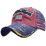 Voqeen Gorra de béisbol Vintage gastada Moda 1969 Gorra de béisbol de Visera para Hombre