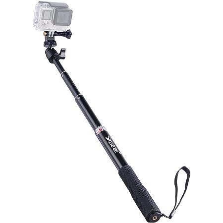 Smatree SmaPole Q1 Extensible Perche/Monopode pour GoPro Hero 7/6/5/4/3+/3/2/1/Session/Osmo Action/pour Appareils photo compacts
