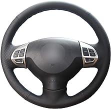 KAIZGMXJ Cubierta de Volante de Coche de Cuero Artificial de PU Negro para Mitsubishi Lancer X 10 2007-2015 Outlander 2006-2013 ASX 2010-2013 Colt