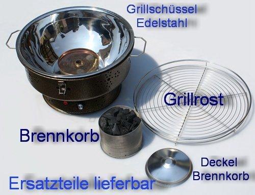 Deckel für Brennkorb Turbo Tischgrill und Wedermann Tischgrill Nr. 1/2
