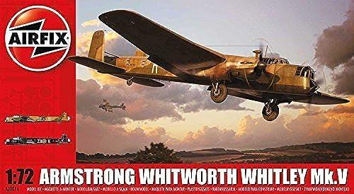 servicio honesto Airfix WWII Armstrong Whitworth Whitley Mk.V Plastic Model Model Model Kit (1 72nd Scale) by Airfix  envío rápido en todo el mundo