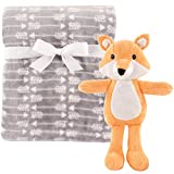 Hudson Baby Unisex Baby Plush Blanket with Toy, Fox 2 Piece, One Size