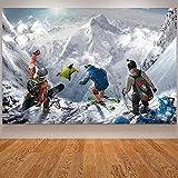 NOBRAND Esquí Snowboard Póster Decoración Moderna Nieve Volando Lienzo Impresión de Arte Decoración de la Sala Inicio Cuadros Decoracion Salon-50X75cm sin Marco