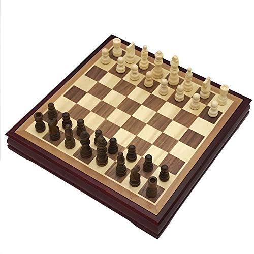 WERTYU Schach Internationale Schach Set Massivholz Schreibtisch Typ Chessboard International Chess Classic Couchtisch Holzbrett Spiel Für Kind Geschenk FFFF