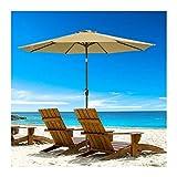 guoqunshop Pies de Lona 9 pies Olefin Umbrella Beach Umbrella Garden Patio al Aire Libre Parasol Protección de sombrilla, Recubrimiento de PVC, Gazebo Pop Up Premium Funda de para Acampar (Color : B)