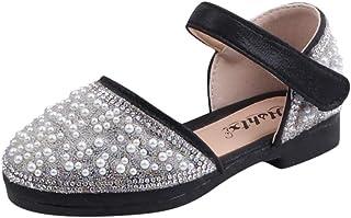 Fossen Zapatos de Princesas para Niña Rhinestone Perla Arco Sandalias Niños Niñas - Sandalias Niña Verano Playa