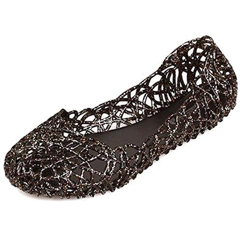 Mujer Verano Transpirable Zapatos de Gelatina Sandalias de Jalea Bailarinas de Nido...