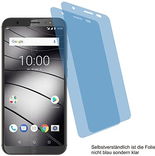 4ProTec I 2X Crystal Clear klar Schutzfolie für Gigaset GS185 Bildschirmschutzfolie Displayschutzfolie Schutzhülle Bildschirmschutz Bildschirmfolie Folie