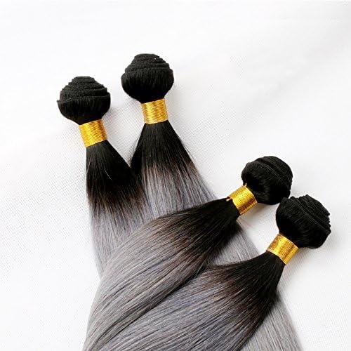 ahorra hasta un 80% XUAN Pelo recto peluca gris cortina 100% 100% 100% cabello humano instantáneo cortina 100g cortina , 16 inch  grandes precios de descuento