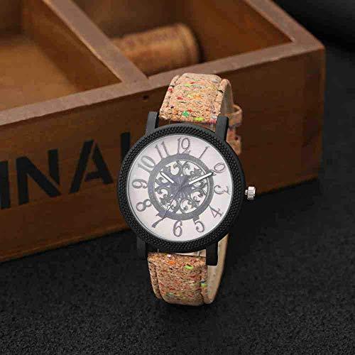 Exquisito, hermoso, decente, novedoso y único. Relojes de pulsera Amantes Moda Moda Reloj Turnudo Turnible Reloj Relojes para mujer Reloj de madera Reloj de madera Mujeres Hombres Reloj ( Color : 1 )