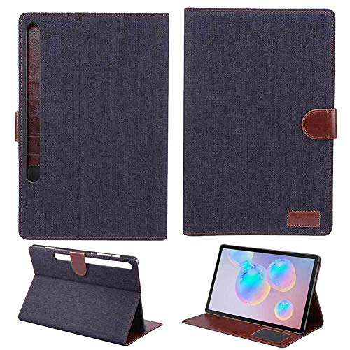 RZL PAD & TAB cases For Samsung Galaxy Tab S6 10.5 inch SM-T860 SM-T865 2019, PU Leather Flip Stand Cover Business Auto Sleep Wake Smart Cover For Samsung Galaxy Tab S6 10.5 inch (Color : Black)