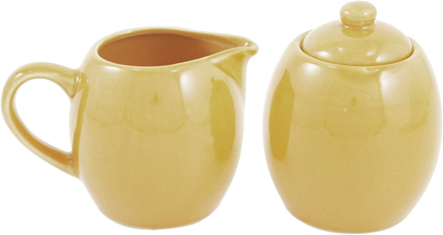 Sahara Sand Daily bargain sale Ceramic Creamer Our shop most popular and with Service Sugar Lid Set
