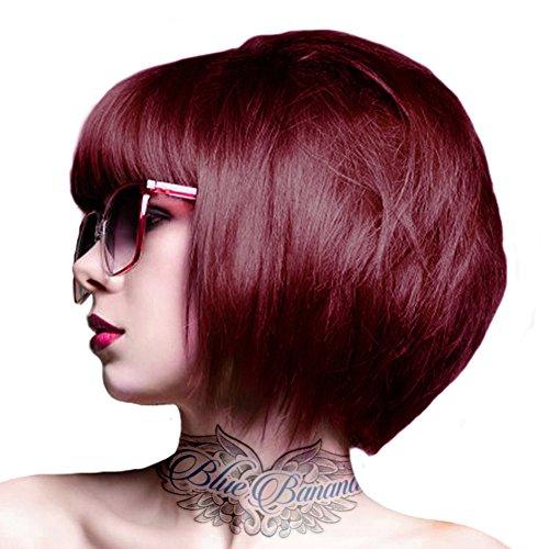 Crazy Color Semi-Permanente Haarfarbe (Bordeaux Red) + KOSTENLOSES Blue Banana Sugar Skull Täschchen