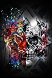 Puzzle de 1000 piezas, para adultos, Halloween, calavera, cráneo, puzzle de madera, hombre, regalo, manualidades, decoración de pared, 75 x 50 cm