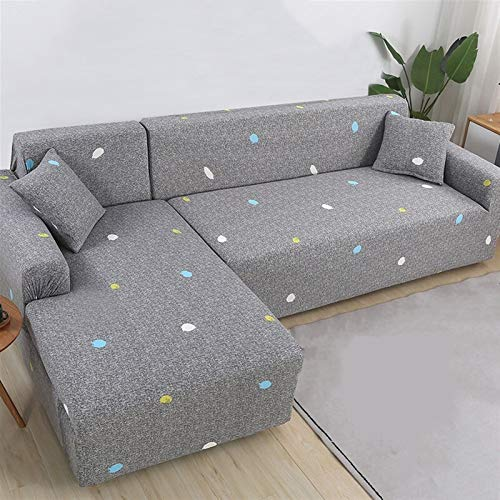 JGYZD Elastic Sofa Covers for Living Room L Shape Sofa Need Buy 2 Pieces Sofa Cover Stretch Corner Couch Cover Slipcovers 1/2/3/4 Seat (Color : Color 15, Specification : 2 Seat and 4 Seat)