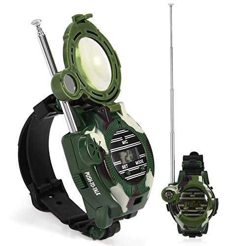 Zetiling Kids Walkie Talkies, 2Pcs Mini Parent-Child Interaction Long Range Wrist Watches Intercom Outdoor Toy Gift