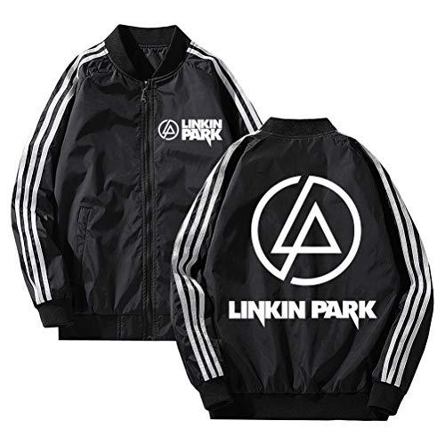 Linkin Park Pullover Activo Casual Sudadera de Mujer impresión Bonita Chaqueta Ligera con Estilo Fino Abrigos Hombres Moda clásico Outwear Hipster Impreso Jersey Unisex (Color : Black03, Size : L)