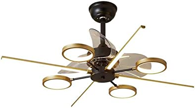 Kroonluchter Woonkamer Lamp, Ventilator Kroonluchter, Eenvoudige en moderne sfeer, Hall Lamp Fan Kroonluchter, Onzichtbare...