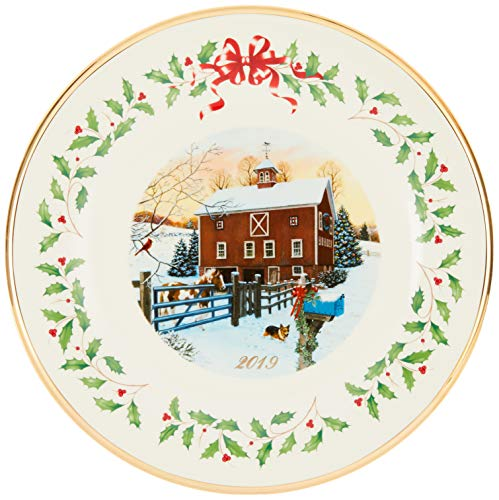 Lenix Christmas Plates 2020 Lenox Annual Christmas Plates. Lenox 887099 2019 Holiday Barn