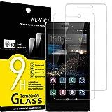 NEW'C Lot de 2, Verre Trempé Compatible avec Huawei P8, Film Protection écran sans Bulles d'air Ultra Résistant (0,33mm HD Ultra Transparent) Dureté 9H Glass