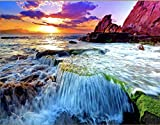 """Blend Makers Paint by Numbers Kit for Adults - 16""""x20"""" Colorful Waterfall Picture- I..."""
