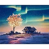 Paisaje Fantasy Tree Diy Pintura digital Acrílico Arte de la pared Pintura al óleo pintada a mano 40x50cm