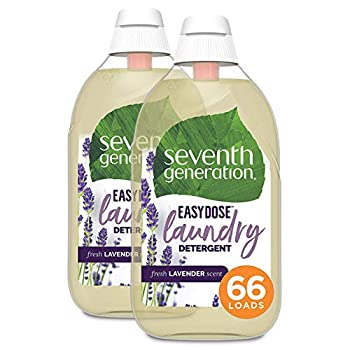 Seventh Generation Laundry Detergent Ultra Concentrated EasyDose Fresh Lavender 132 Loads  Packaging May Vary  23 Fl Oz  Pack of 2