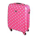 Karry Trolley Hartschalen Reise Koffer TSA Rosa Punkte 813/818
