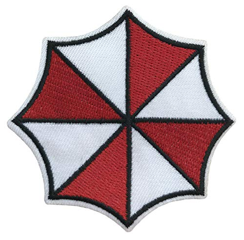 """Resident Evil Small Umbrella Corporation Logo Shoulder Patch, NEW 3"""" Iron Sew On"""