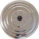 IMEX EL ZORRO 61311 El Zorro 61311-Tapadera Aluminio antivaho, diametro, Acero Inoxidable, Negro, 30 cm