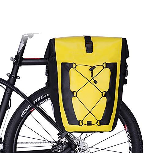 CARACHOME Alforja Bici, Alforjas Bicicleta Multifunción De 27 litros,Bolsa Bici Ultraligera Y...