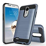 UniSpg Phone Case for LG Rebel 4 LTE (L212VL, L211BL),LG Tribute Empire/Aristo 2/Plus/LG Phoenix 4/Tribute Dynasty/Zone 4/Rebel 3 Case, Shockproof Hybrid Dual Layer Armor Protective Cover [Blue]