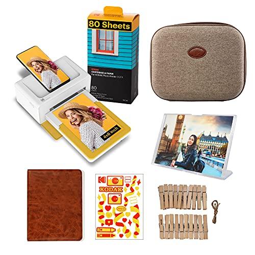 Kodak PD460 Dock Plus, Impresora Fotos movil 10X15Cm, con 90 Hojas para Fotos y Accesorios, Impresora Bluetooth, Cable USB-C Y Lightning, Impresora para Móvil Portátil Smartphone, iOS Y Android