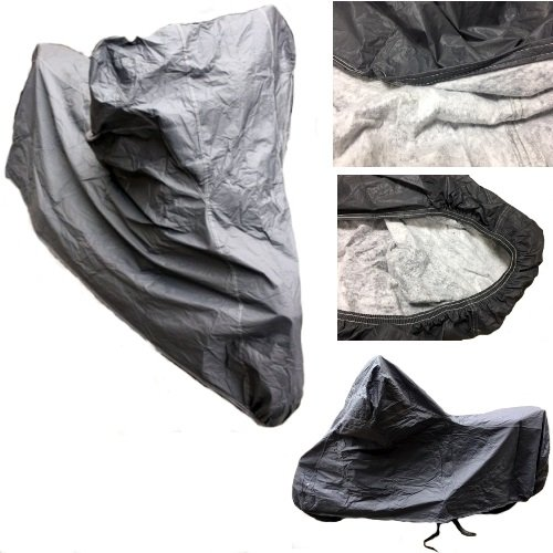 COMPATIBLE WITH HONDA ST 1100 PAN EUROPEAN MOTORCYCLE COVER FLEECE WATERPROOF COVER SCOOTER SIZE XL MOTORCYCLE SCOOTER UNIVERSAL SCRATCH COVER OJ 246X105X127CM