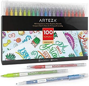 100-Set Arteza Dual-Tip Sketch TwiMarkers