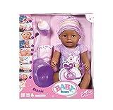 Baby Born - 30863 - Poupon Interactif Baby Born Violet - 9 fonctions et 11 accessoires inclus.