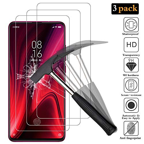 ANEWSIR Tempered Glass Protective Film for Xiaomi Mi 9T / Mi 9 PRO, Screen Protector [Hardness 9H] Suitable for Xiaomi Mi 9 T / Mi 9 PRO (3 Pieces)