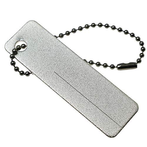 PSCCO Mini Portable Diamond Stone Sharpener with Keychain,EDC Mini Pocket Sharpeners for Fish Hook,Fingernail,Knife Outdoor Tool
