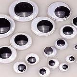 7101132 Efco–Ojos móviles para muñecos Redondo, de plástico, Negro/Blanco, 10mm, 100Piezas...