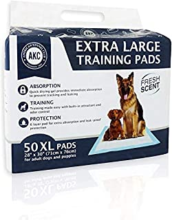 American Kennel Club 50 Count X-Large Training Pads, 30-Inch by 28-Inch (B00PG3HBGM) | Amazon price tracker / tracking, Amazon price history charts, Amazon price watches, Amazon price drop alerts