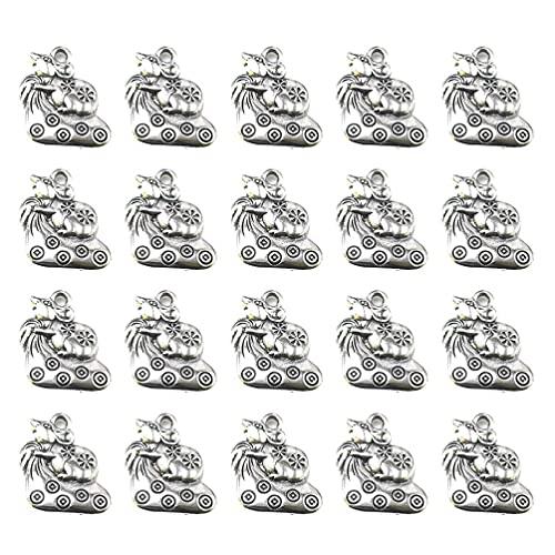 50 Uds, Colgantes de abalorios de animales, aleación de plata antigua, abalorios de rata de la suerte para pulseras, collares, pendientes, fabricación de joyas, manualidades DIY