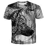 Camiseta De Moda con Estampado 3D De Animales, Camiseta Fresca para Hombre, Camisetas De Verano De Manga Corta, Camiseta