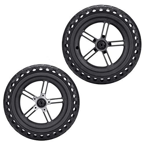 Alomejor Roller Reifen Explosionssicher Roller Rad Feste Ersatzreifen für Xiaomi Elektroroller Scooter (2pcs)