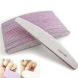 1 pieza de lima de uñas de doble cara tablero de pulido de esmeril para uñas de las uñas de los pies uñas postizas uñas manicura pedicura