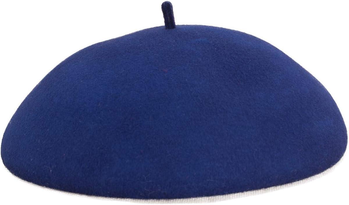 Lawliet Women Royal Style Soft White Beret 100% Wool Felt Hat Fascinator A502