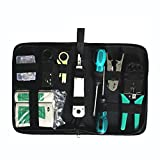 AVESON 8-in-1 Ethernet LAN RJ11 RJ45 CAT5 Cable Tester Network Analyzer Wire Crimping Crimper Stripper Tool Kit Screwdriver Punch-down Tools