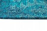 Moderner Teppich Designer Teppich Orientteppich Wohnzimmer Teppich mit Karo Muster in Türkis Blau Größe 200 x 290 cm - 2